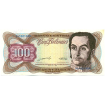 Billete 100 Bolívares Mayo 31 De 1990 P8 Casi Sin Circular