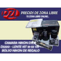 Nikon D3200 24.2 Mp Lente 18-55mm Full Hd + Bolso Nikon