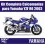Kit De Calcomanias Completo Para Yamaha Yzf R6 2003