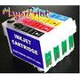 Kit Cartuchos Recargables Llenos Cx5600 Tx100 Cx7300 Cx8300