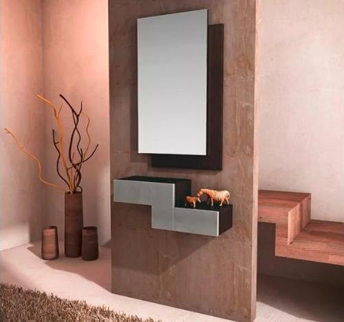 Consola recibidor con espejo moderna minimalista de lujo - Consolas recibidor modernas ...