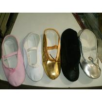 Zapatillas De Ballet De Cuero - Talla:24 Al 40. (5 Colores)