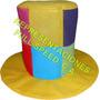 Sombreros Tipo Copa A Cuadro Para Fiestas, Hora Loca Eventos
