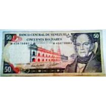 1998 13 De Octubre W Billete De 50 Bolívares