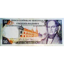 1995 5 De Junio S Billete De 50 Bolívares