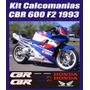 Kit Calcomanias Moto Honda Cbr 600 F2 1993