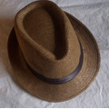 Sombrero Estilo Borsalino, Multiuso, Unicolores, Blanco
