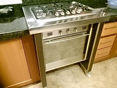 Mueble deslizable para horno y tope de cocina bs Mueble para horno