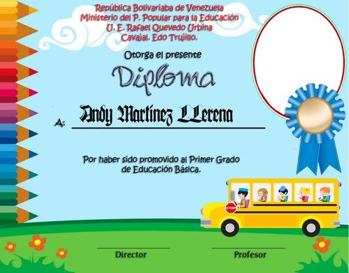 Diplomas para preescolar editables - Imagui