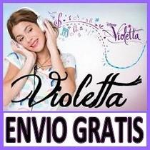 Kit Imprimible Violetta Diseñá Tarjeta, Cotillon, Invitacion