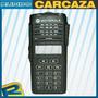 Kit Carcasa Ep350 Motorola Perillas Etiquetas 17 Teclas