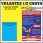 Impresion Volante Publicitario Papel 1/2 Carta 20x13cm Fc