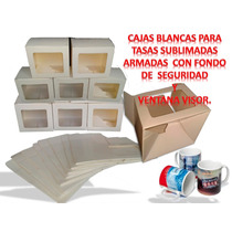 Cajas Para Tazas Sublimadas Con Visor.