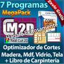 Optimizada De Cortes Para Laminas: Madera, Mdf, Vidrio Telas