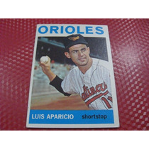Cv Muy Rara Número Alto Luis Aparicio Topps 1964 Orioles Hof