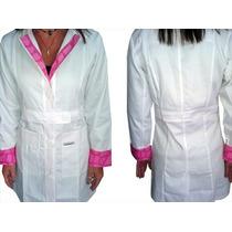 Uniformes Médicos - Bata Sobretodo Con Estampado Damas