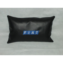 Cojin Almohada Apoya Cabeza Con Logo Bordado Fiat