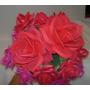 Flores Rosas Crisantemos En Foami Termo Formado Medianas