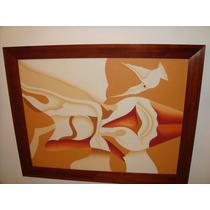 Cuadro Mujer Abstracto Con Marco De Madera