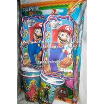 Mantel Vasos Platos Mario Bros Cars Toy Story Chavo Y Otros