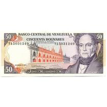 Billete De 50 Bolívares Diciembre 8 De 1992 Serial Y8