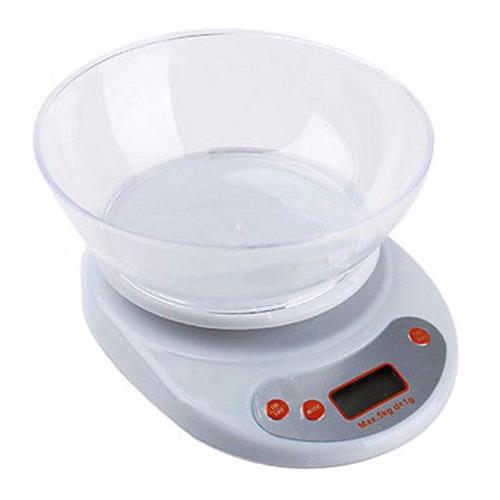 Balanza peso digital de cocina de 1 g a 5 kg bs for Balanza cocina 0 1 g