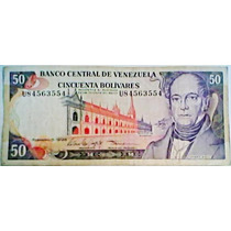 1998 5 De Febrero U Billete De 50 Bolívares