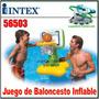 Juego Baloncesto Inflable + Pelota Basket Piscina Playa56503