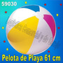 Pelota Inflable Playa Piscina Niños Intex 59030 61cm Diametr