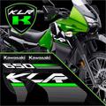 Kit Calcomanias Kawasaki Klr 650 Edicion Especial.