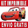 Kit Imprimible Cars 2 Diseñá Tarjetas , Cumples Y Mas New