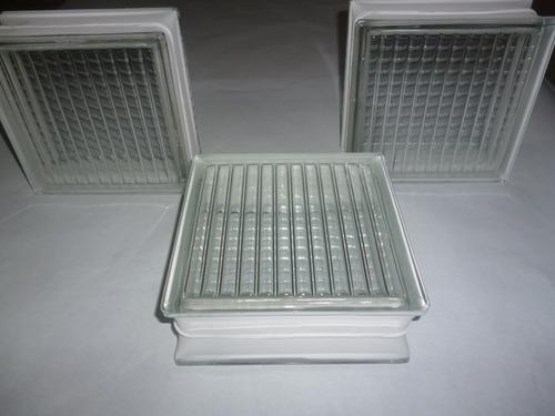 Bloque de vidrio decorativo 19 x 19 x 8 cm bs u46k4 - Bloque de vidrio precio ...