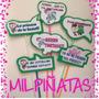 Habladores Paquete De 6.marcos Para Fiestas.letreros.piñatas