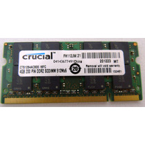 Memoria Laptop Ddr2 4gb 800mhz 1modulo Marca Crucial