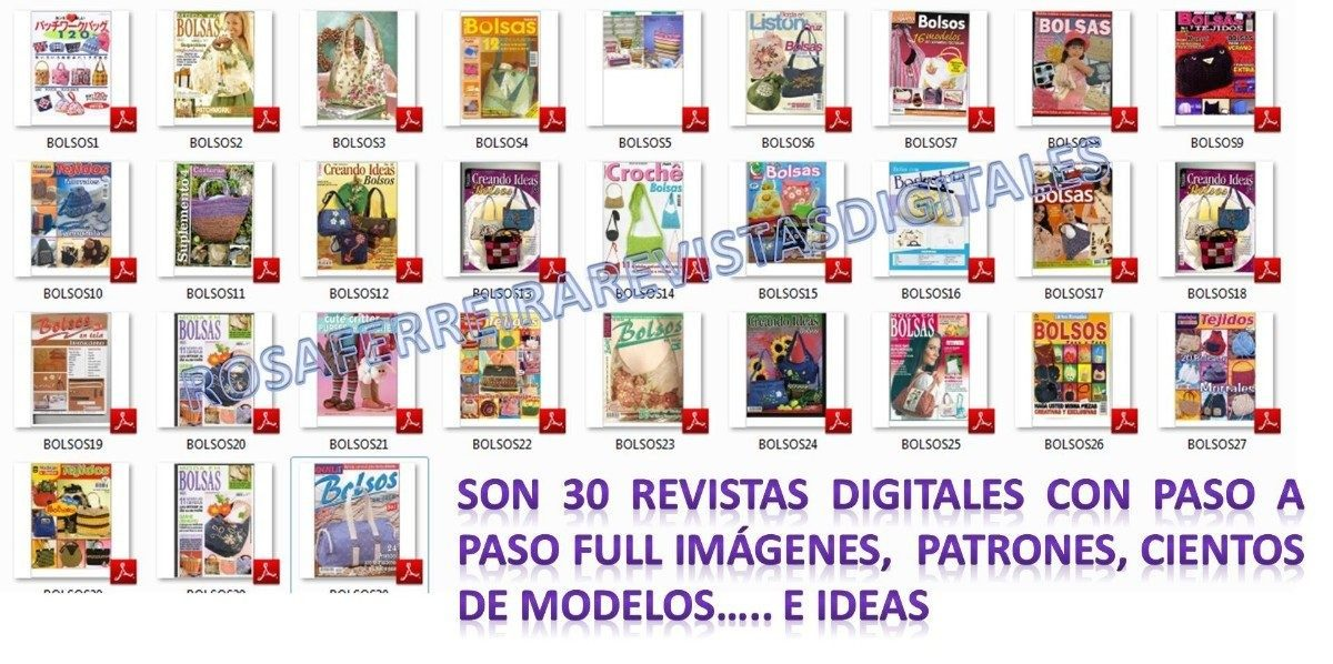 Organizador De Baño En Tela Paso A Paso:30 Revistas De Bolsos Paso A Paso Con Patrones + Regalo – Bs 89,00 en