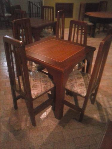 Juego de comedor de 4 puestos en madera bs vrkfi for Comedor 4 puestos madera