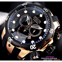 Reloj Invicta Mens Swiss Reserve Venom Gold Rose Black Chron