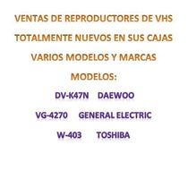 Reproductor Vhs Toshiba W-403 + Rebobinador