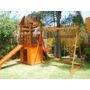 Parque Infantil De Madera Con Torre