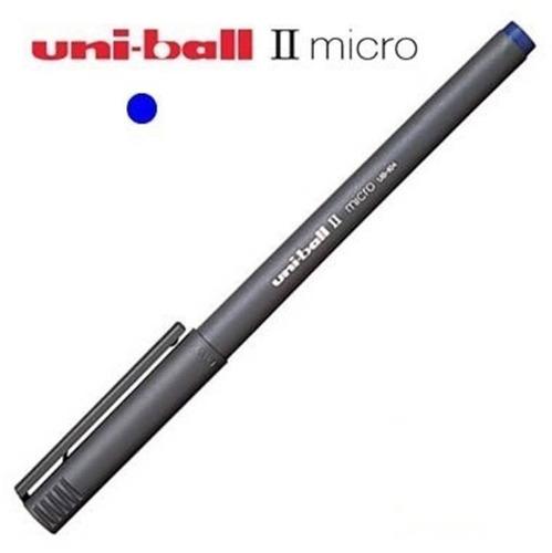 Boligrafo Uni-ball Micro Ub-104 Solo Color Azul Por Unidad
