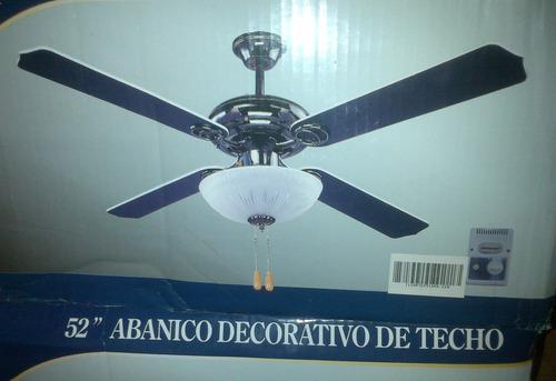 Ventiladores de techo con lampara decorativo de 52 bs f - Ventiladores de techo precios ...