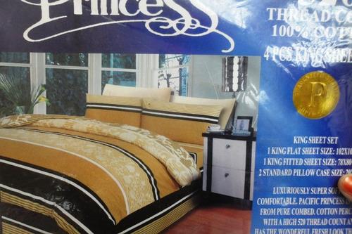 Juegos de sabanas 2x2 king colchon pillow cama bs for Sabanas para cama king size precios