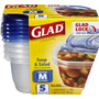 Paquete 5 Envases Comida Sopa Ensalada Glad Bpa Free Mediano