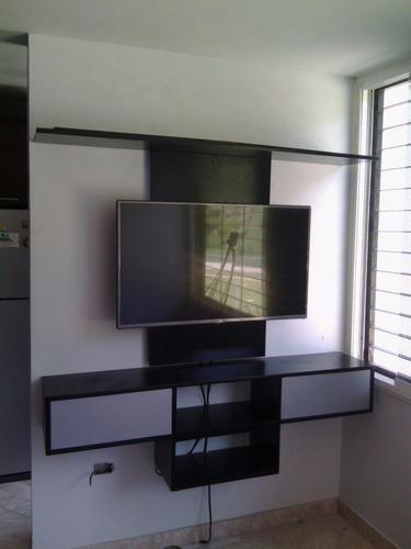 Centro De Entretenimiento Tv 32¨ Mueble Repisas Flotante f5025a222931