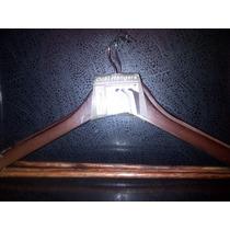 3 Ganchos De Madera Oscuro Para Ropa Fine Casa 0155 Xavi