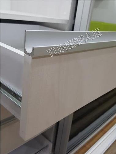 Tirador perfil d aluminio cuadrado herraje accesorio - Perfil de aluminio precio ...