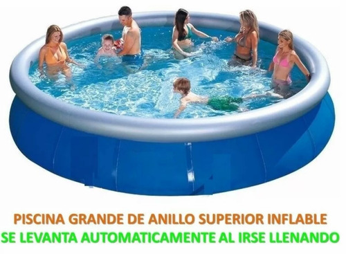 Piscina intex x 76 cm con borde inflable bs for Piscina inflable intex