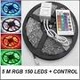 Cinta De Led 5050 Laser Rgb, Multicolor Rollo 5mts C/ Contro