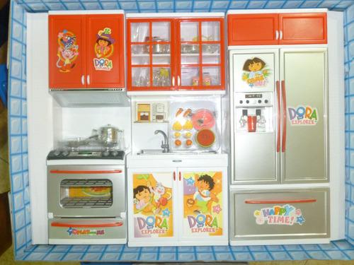 Cocina ni a dora exploradora luces sonidos accesorio mu eca bs vcrwm precio d venezuela - Dora la exploradora cocina ...