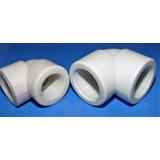 Codo 1/2 Aguas Blancas Plastico Pvc  Roscado Resistente